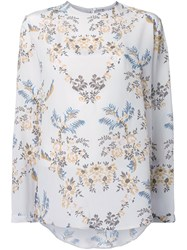 Stella Mccartney Long Sleeved Floral T Shirt White