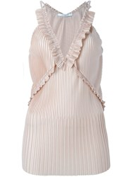 Givenchy Pleated Sleeveless Top Nude And Neutrals