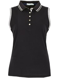 Green Lamb Cory Sleeveless Club Polo Black