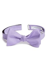 Men's John W. Nordstrom Dot Silk Bow Tie Purple Lilac