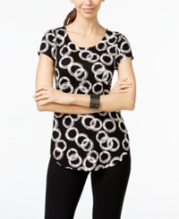 Alfani Ring Print Cap Sleeve Top Only At Macy's