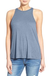 Women's Sun And Shadow Rib Knit Tank Blue Coronet