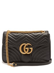 Gucci Gg Marmont Medium Quilted Leather Shoulder Bag Black