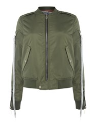 Replay Reversible Jacket With Ribbed Details Green