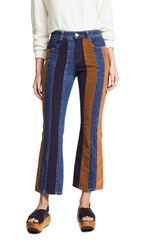 See By Chloe Multicolor Flare Jeans
