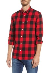 Jack Wills Salcombe Slim Fit Buffalo Check Sport Shirt Red