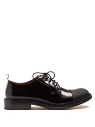 Joseph Leather Derby Shoes Black White