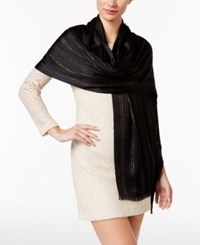 Inc International Concepts Metallic Stripe Scarf Only At Macy's Black