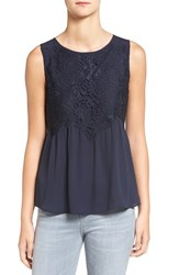 Chelsea 28 Women's Chelsea28 Button Back Lace Tank Navy Well