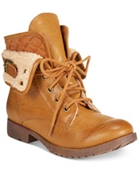 Zigi Rock And Candy Spraypaint Faux Shearling Trim Foldover Booties Women's Shoes
