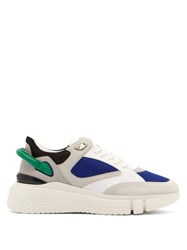 Buscemi Veloce Leather And Suede Trainers White Multi