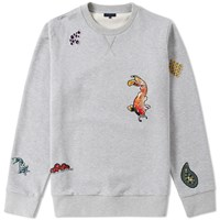Lanvin Embroidered Koi Crew Sweat Grey