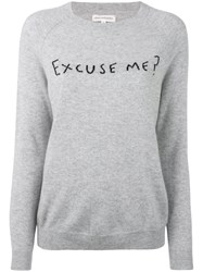 Chinti And Parker Excuse Me Sweater Women Cashmere Xs Grey