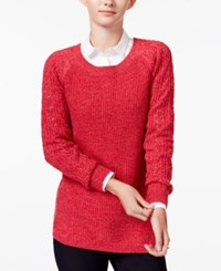 Maison Jules Crew Neck Sweater Only At Macy's Banner Red