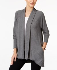 Styleandco. Style Co. Shawl Collar Open Front Cardigan Only At Macy's Steel Heather Grey