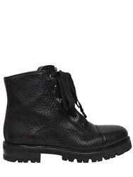 Attilio Giusti Leombruni 30Mm Textured Leather Combat Boots