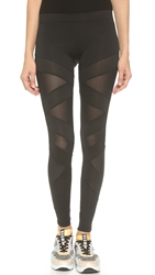 Solow Box Eclon Cutout Leggings Black