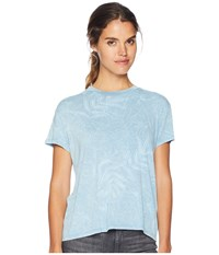 Rvca Suspension Short Sleeve Top Blue Crest Clothing