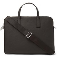 Hugo Boss Crosstown Full Grain Leather Briefcase Brown