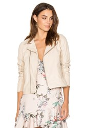 June Fitted Moto Jacket Beige