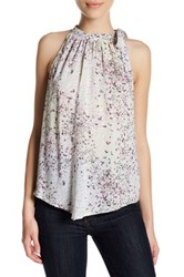 14Th And Union Printed High Neck Tank Petite Multi