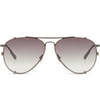 Kris Van Assche Kva18 Double Bridge Aviator Sunglasses Matt Grey