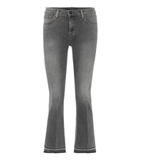 J Brand Flared Cropped Jeans Black
