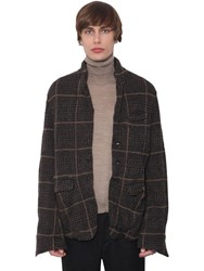 Undercover Checked Wool Jacket Grey Charcoal