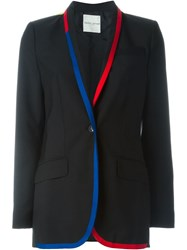 Each X Other Contrast Trim Blazer Black