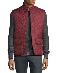 Belstaff Lightweight Quilted Tech Vest Racing Red