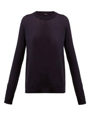 Joseph Cashair Cashmere Sweater Navy