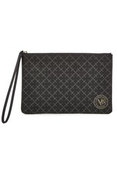 By Malene Birger Pamelah Faux Leather Printed Pouch Grey