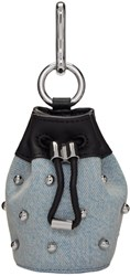 Alexander Wang Blue Denim Mini Roxy Pouch Keychain