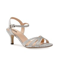 Paradox London Pink Shelby Strappy Glitter Sandals Silver