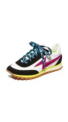 Marc Jacobs Astor Lightning Bolt Sneakers White Multi