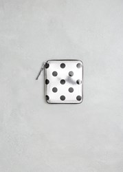 Comme Des Garcons Optical Group Wallet Silver Dot