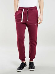 Topman Jog On Burgundy Skinny Fit Joggers Red