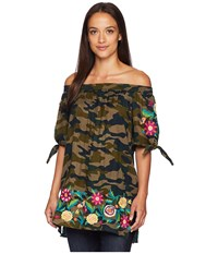 Double D Ranchwear Cosmic Top Camo Clothing Multi