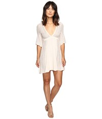Free People Find Your Love Sweater Dress Ivory Women's Dress White