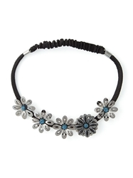 Lanvin Flower Headband Black