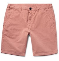 Paul Smith Ps By Stretch Pima Cotton Twill Chino Shorts Coral