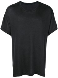 The Elder Statesman Relaxed Fit T Shirt Blue