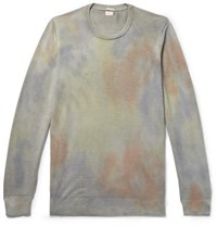 Massimo Alba Tie Dyed Cashmere Sweater Light Green