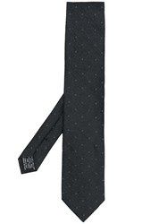 Tom Ford Charcoal Dotted Tie Black