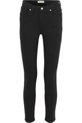 Madewell Cropped High Rise Skinny Jeans Black