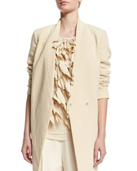 Brunello Cucinelli V Neck Mid Length Jacket Butter Yellow