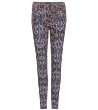 Isabel Marant Nella Printed Skinny Jeans Blue