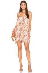 Lucca Couture Double Strap Shift Dress Beige
