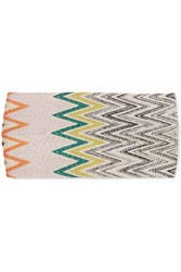 Missoni Crochet Knit Headband Blue
