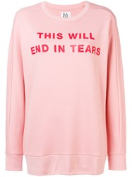 Zoe Karssen This Will End In Tears Sweatshirt Pink And Purple